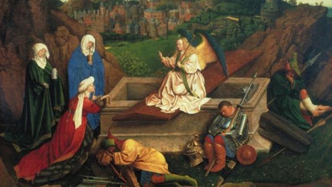 'Las tres Marías ante el sepulcro' (1430-35), obra atribuida a JanVan Eyck y también a su hermano Hubert