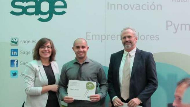 El emprendedor segoviano premiado (c).