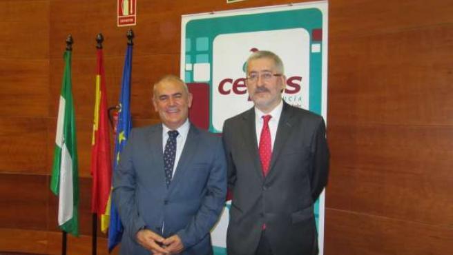 Antonio Romero (Cepes-A) y Antonio Ávila (consejero de Economía)