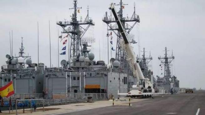 Imagen de archivo de la base militar de Rota (Cádiz).