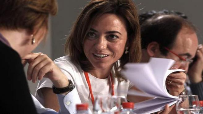 Carme Chacón, durante el 38º Congreso del PSOE que se celebró en Sevilla.