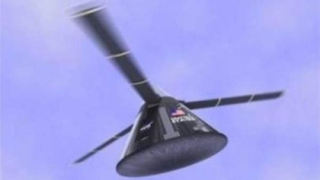 Cápsula espacial con rotor.