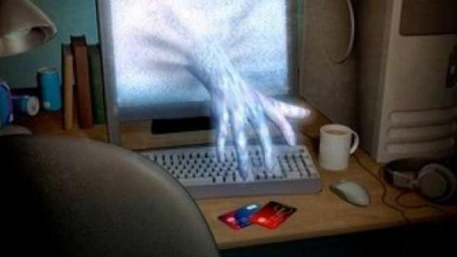 Una representación de un virus informático.