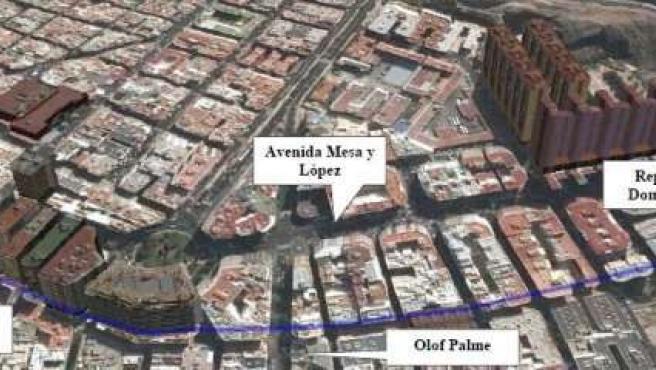 Calle Juan Manuel Durán de Las Palmas de Gran Canaria