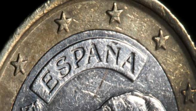 Imagen de una moneda de Euro española.