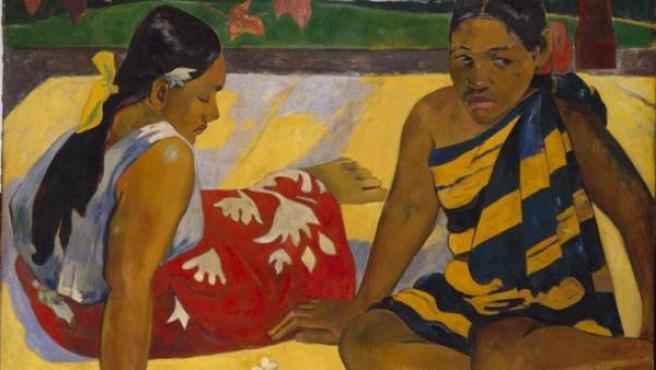 'Parau api', óleo de la muestra 'Gauguin y el viaje a lo exótico'