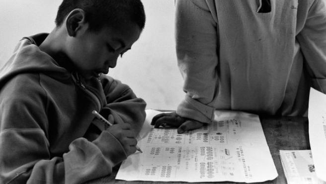 El premio fue concedido al reportaje del que forma parte este foto, un trabajo documental sobre una escuela de primaria en el interior montañoso de Taiwán