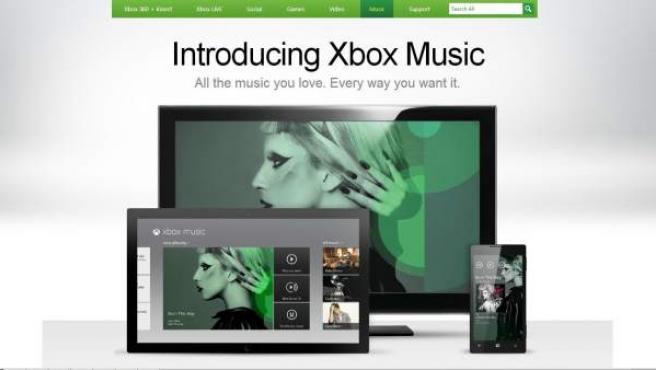 El servicio de Microsoft Xbox Music.