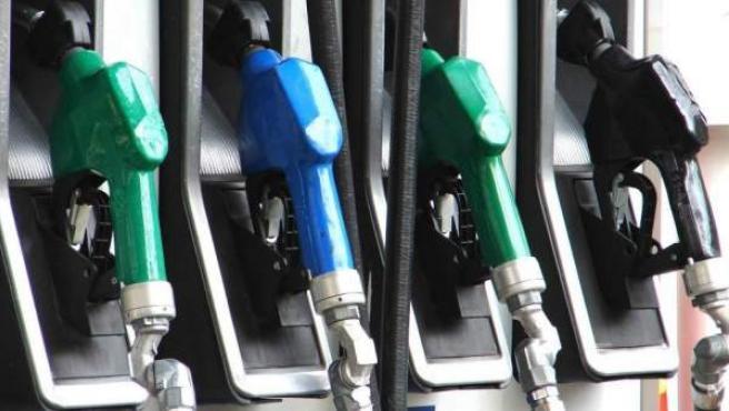 Unos surtidores de gasolina, en una imagen de archivo.
