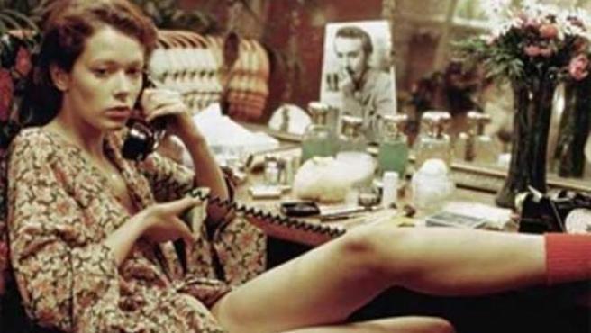La actriz holandesa Sylvia Kristel en un forograma de 'Goodbye, Emmanuelle'.