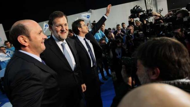 Mariano Rajoy en el mitin de cierre de campaña del PPdeG