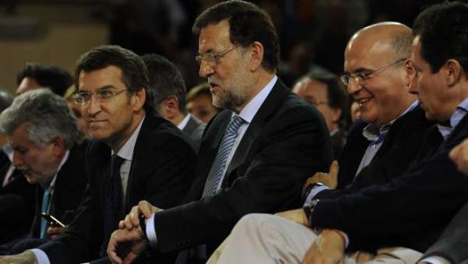 Rajoy y Feijóo en Ourense