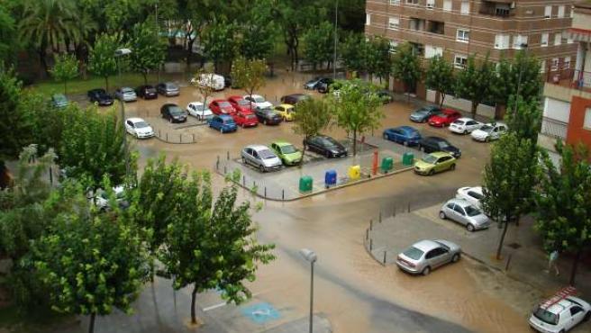 Fuertes lluvias en Espinardo-Murcia