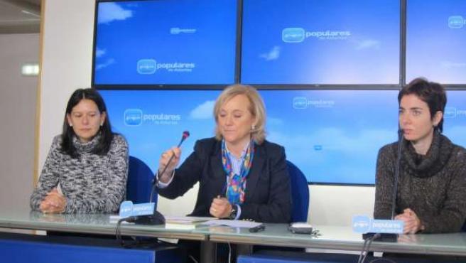 Susana López Ares, Mercedes Fernández y Emma Ramos