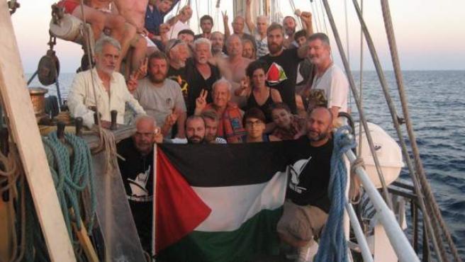 Imagen de los tripulantes que viajaban a bordo de la III Flotilla de la Libertad.