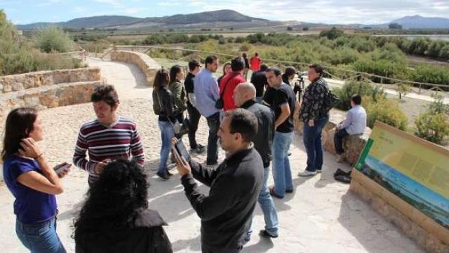 Los blogueros visitan la Laguna de Fuente de Piedra