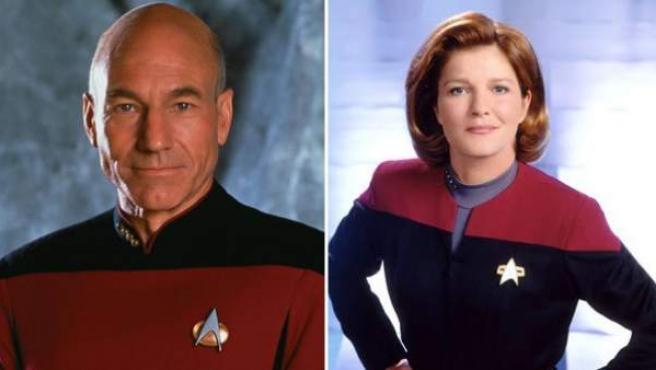 Algunos de los actores de Star Trek: William Shatner, Sir Patrick Stewart y Kate Mulgrew.