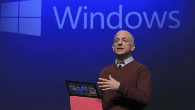 Steven Sinofsky, presidente de Microsoft para la división de Windows y Windows Live, durante la presentación en China del nuevo sistema operativo Windows 8.