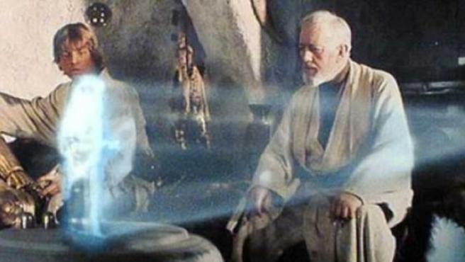 Imagen de una escena de la primera película de 'La guerra de las galaxias'.