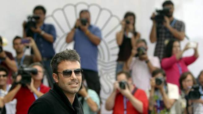 El actor y director estadounidense Ben Affleck llega al Festival de Cine de San Sebastián 2012 para presentar la película 'Argo'.