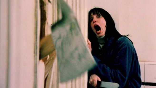 Shelley Duvall en una de las más famosas escenas de 'El resplandor'.