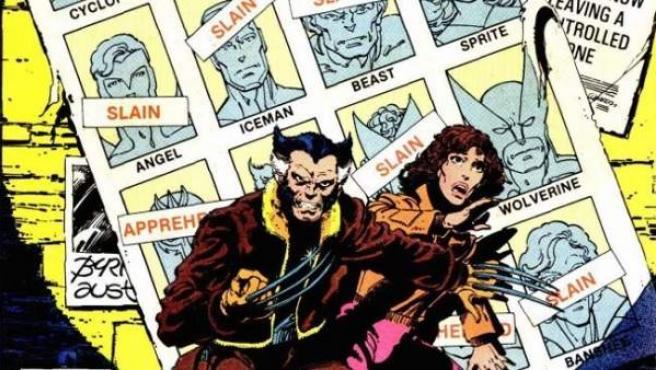 Ilustración de la portada del cómic 'X-Men: Días del futuro pasado'.