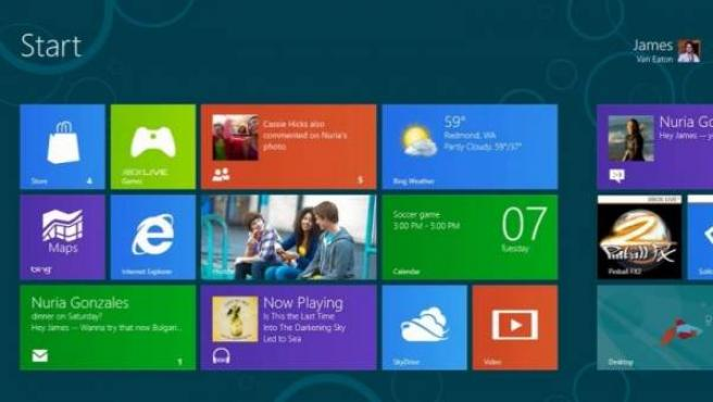 Captura de pantalla de Windows 8.
