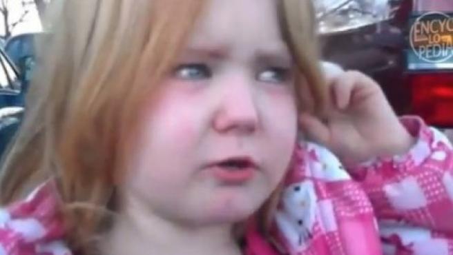 Abigael, la niña que se ha hecho famosa en Internet por llorar a causa de la campaña electoral de EE UU.