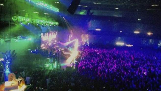 Imagen del Madrid Arena la noche de Halloween.