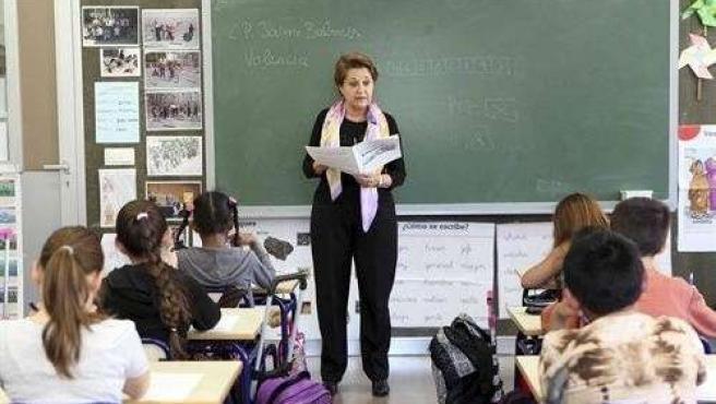 Una Profesora En Clase