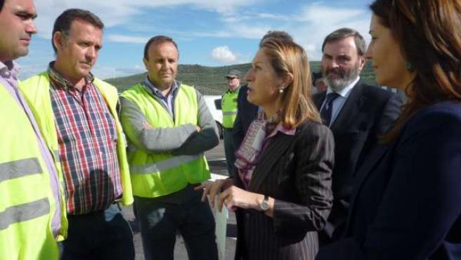 Pastor reunida con expropiados de la provincia de Jaén hoy
