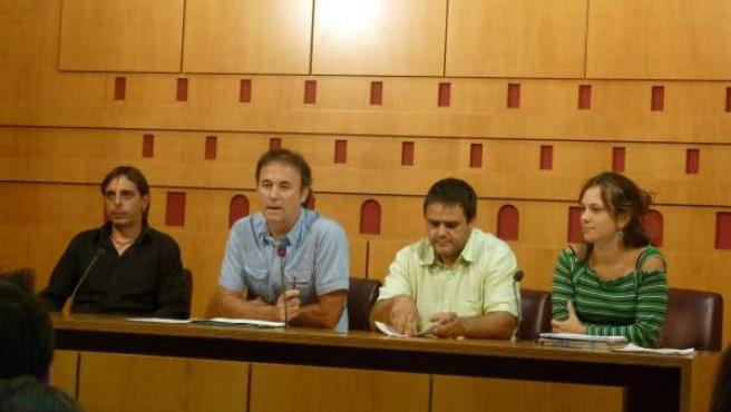 RUeda de prensa de bildu en ayuntamiento de vitoria