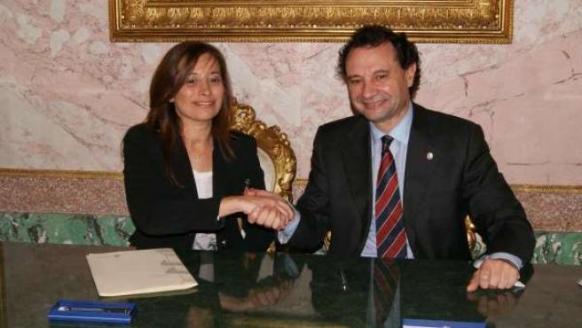 Arahuetes y Ardiles firman el convenio el pasado día 31