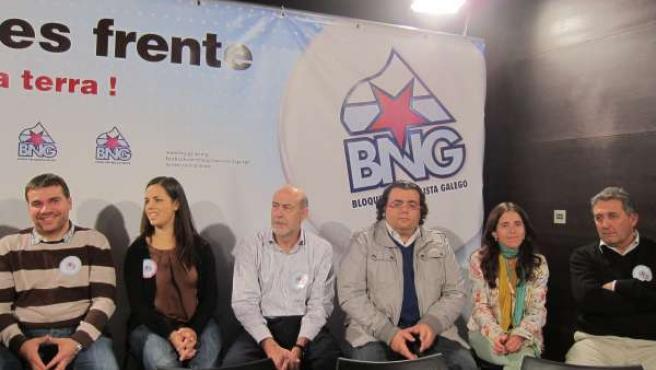 Xurxo Rodríguez Con Otros Miembros Del BNG