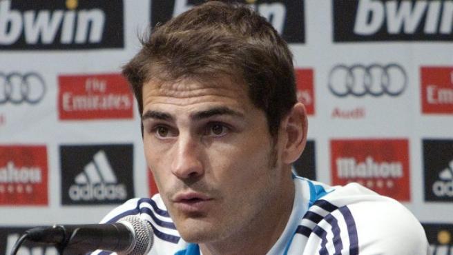 El jugador del Real Madrid Iker Casillas.