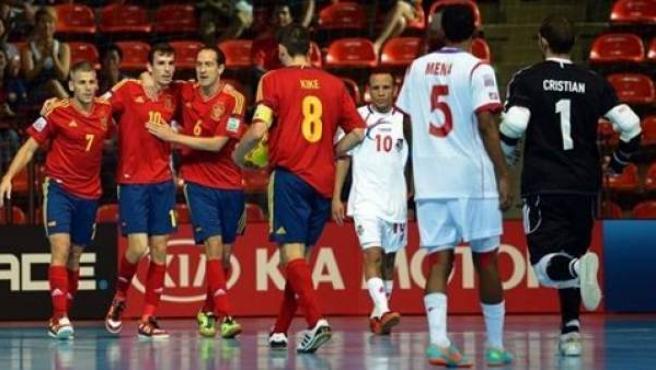 Los jugadores de la selección española de fútbol sala, en una foto de archivo.