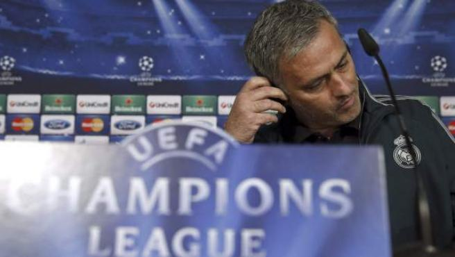 José Mourinho en rueda de prensa previa a la Liga de Campeones.
