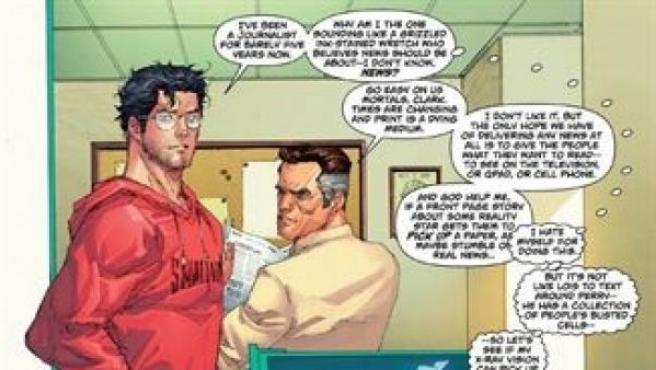 Imagen de unas viñetas del cómic de Superman.