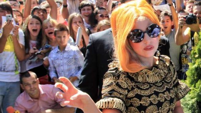 Lady Gaga en Bucarest, Rumanía, el 15 de agosto de 2012.