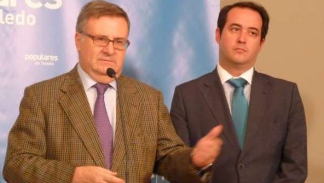 Arturi García Tizón y Carlos Madero, reunión Mancomunidad Algodor