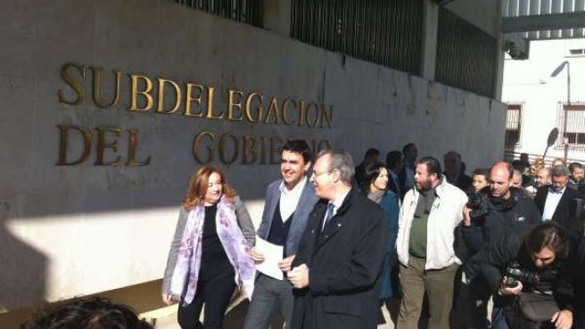 Mario Jiménez, en Córdoba, para pedir un plan de empleo al Gobierno