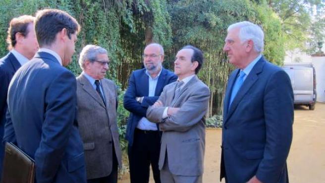 Rafael Rodríguez con Braulio Medel y Santiago Herrero