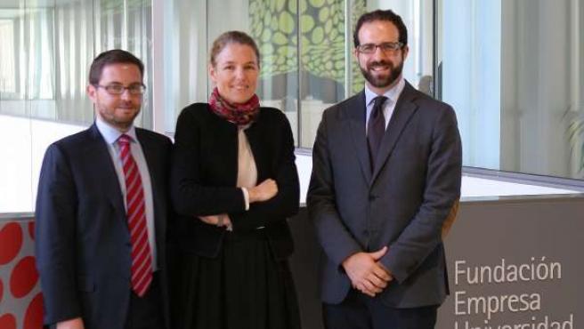 Jesús Lavalle, Marie Anne Reynell y Juan Gala.