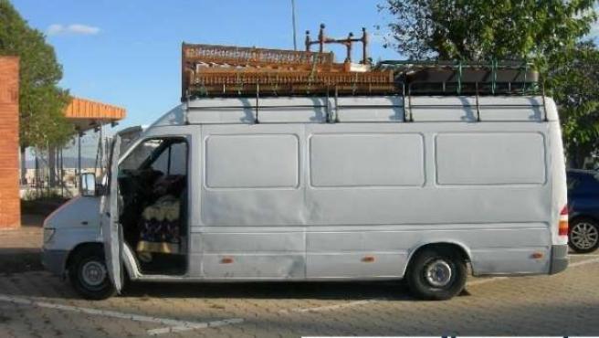 Vehículo denunciado en un control en Figueres