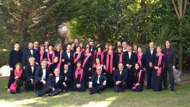 Integrantes de la Asociación Coral Harmonía.