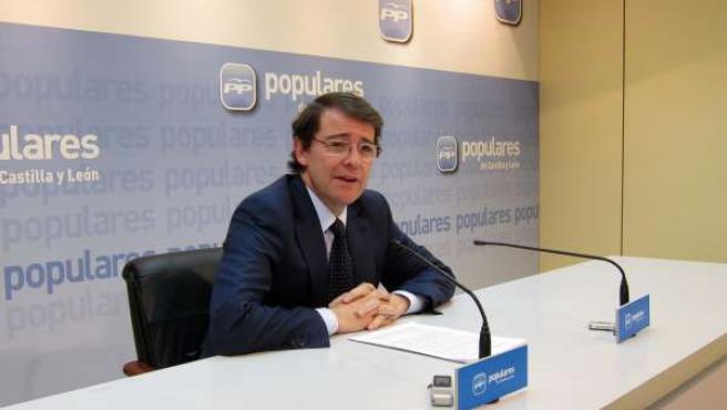 El secretario autonómico del PPCyL, Alfonso Fernández Mañueco