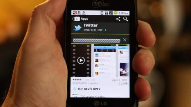 La app de Twitter para móvil.