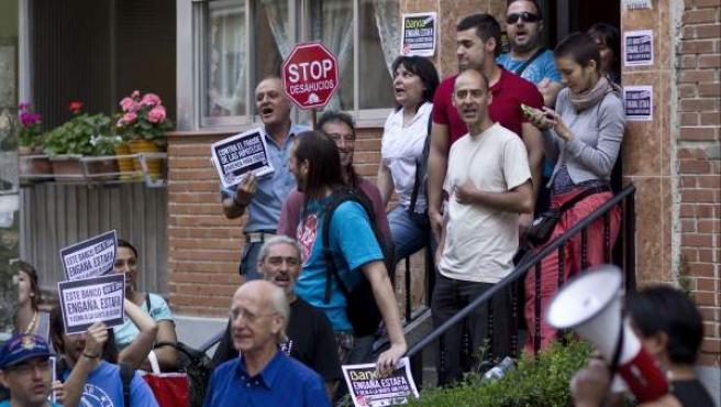 Protesta contra un desahucio.