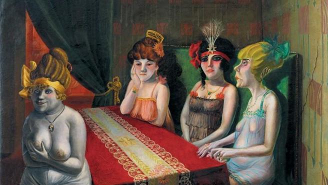 'El salón' (1921), una de las obras de Otto Dix incluidas en la exposición