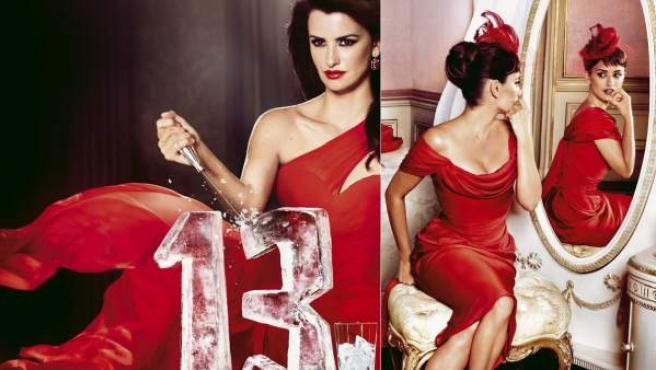 Imágenes cedidas por Campari de su calendario para 2013, protagonizado por la actriz española Penélope Cruz.